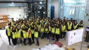 Alumnos de 2º de Bachillerato en el Laboratorio subterráneo de Canfranc