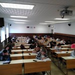 Durante la prueba de Latín