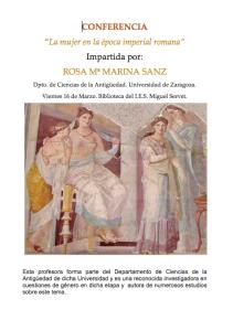 La mujer en época imperial romana